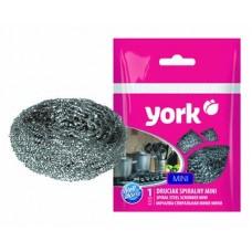 Губка для посуды YORK Mini спиральная металлическая