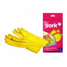 Перчатки резиновые YORK размер L$