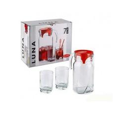 Набор 7пр. PASABAHCE Luna кувшин 1,3л + 6 стаканов