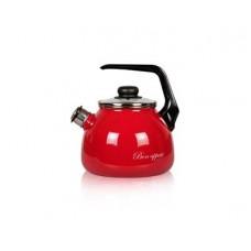 Чайник VITROSS 2,0л сфер. со свист. Bon appetit вишневый