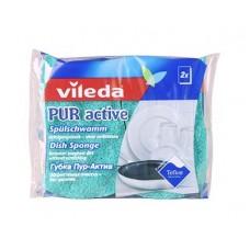 Губки для посуды VILEDA Пур-Актив 2шт. !