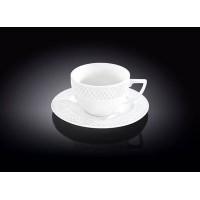 Набор чайная пара WILMAX Julia Vysotskaya 6шт (блюдце & чашка 240мл) в цв.уп.