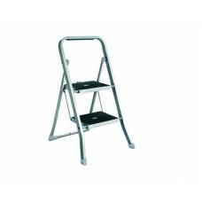 Стремянка алюминиевая EUROGOLD Step 2 ступ. резиновая накладка