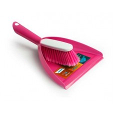 Комплект для уборки AKOR Elite Lazio совок+щетка-сметка малин.