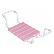 Сиденье в ванну VIOLET на метал.трубе розовое$