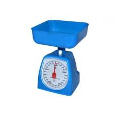Весы кухонные 5 кг механические с пласт.чашей 2 л, 4 цв.$