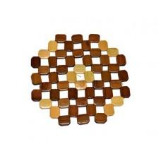 Подставка под горячее 19х19см Мозаика бамбук$