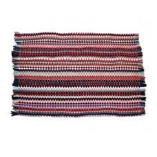 Коврик плетеный 35х55см разноцветный$