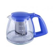 Чайник заварочный 750мл с фильтром, жаропр. стекло/пласт. 4 цв.$