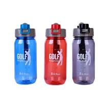 Бутылка для воды с поильником 600мл пластик$