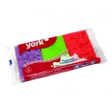 Губки для посуды YORK Колор люкс 3шт.