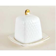 Блюдо для лимона КОРАЛЛ Снежная королева 10см ф.квадрат с крышкой