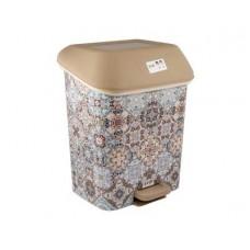 Контейнер для мусора с педалью SVIP Марокко 15,0л декор