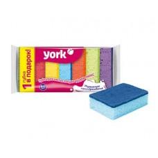 Губки для посуды YORK Колор люкс 5+1шт.