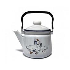 Чайник ЭМАЛЬ 2,5л Гуси