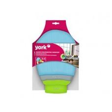 Салфетк-перчатка YORK 3 в 1 микрофибра