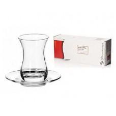 Набор стаканов PASABAHCE Tea&Coffee 12пр. с блюдцами