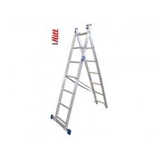 Лестница алюминиевая HITT H285 2x 7  h2,00*3,13 м