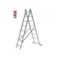Лестница алюминиевая HITT H285 2x 8  h2,30*3,70 м