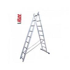 Лестница алюминиевая HITT H285 2x 9  h2,60*4,27 м