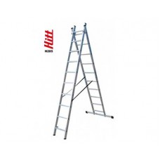 Лестница алюминиевая HITT H285 2x10  h2,77*4,84 м