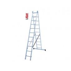 Лестница алюминиевая HITT H285 2x11  h3,15*5,41 м
