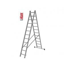 Лестница алюминиевая HITT H285 2x12  h3,43*5,72 м