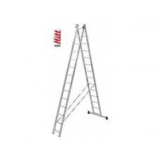 Лестница алюминиевая HITT H285 2x14  h4,00*6,86 м