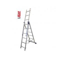 Лестница алюминиевая HITT H285 3x 6  h1,70*2,56*3,46 м