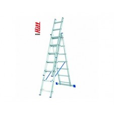Лестница алюминиевая HITT H285 3x 7  h2,00*3,13*4,31 м