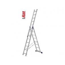 Лестница алюминиевая HITT H285 3x 8  h2,30*3,70*5,18 м