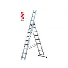 Лестница алюминиевая HITT H285 3x 9  h2,60*4,27*6,02 м