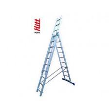 Лестница алюминиевая HITT H285 3x10  h2,77*4,84*6,87 м