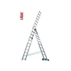 Лестница алюминиевая HITT H285 3x11  h3,15*5,41*7,15 м