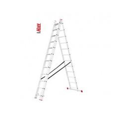 Лестница алюминиевая HITT H285 3x12  h3,43*5,98*8,00 м