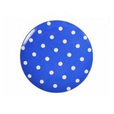 Тарелка мелкая ДФЗ 200мм ф.универсал Горошек на синем фоне