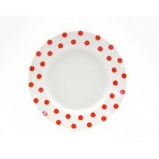 Тарелка мелкая ДФЗ 200мм ф.идиллия Горошек красный