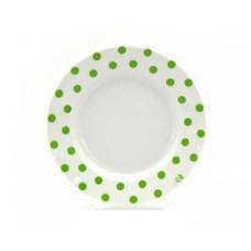 Тарелка мелкая ДФЗ 175мм ф.идиллия Горошек зеленый