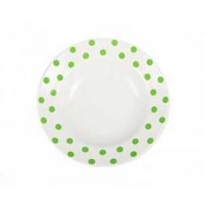 Тарелка глубокая ДФЗ 240мм/500мл ф.идиллия Горошек зеленый