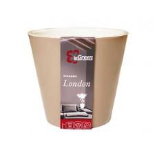 Горшок для цветов INGREEN London  D160мм 1,6л молочный шоколад