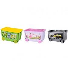 Ящик для игрушек на колесах ELFPLAST KidsBox