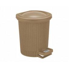 Контейнер для мусора SVIP Ajur 6,0л с педалью кофейный