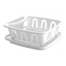 Сушилка для посуды Verona 360х310х125мм с поддоном белый