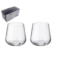 Набор стаканов для виски CRYSTALITE BOHEMIA Ardea/Amudsen 320мл (1/2шт)